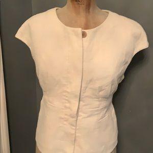 EUC J CREW sleeveless jacket cotton off white